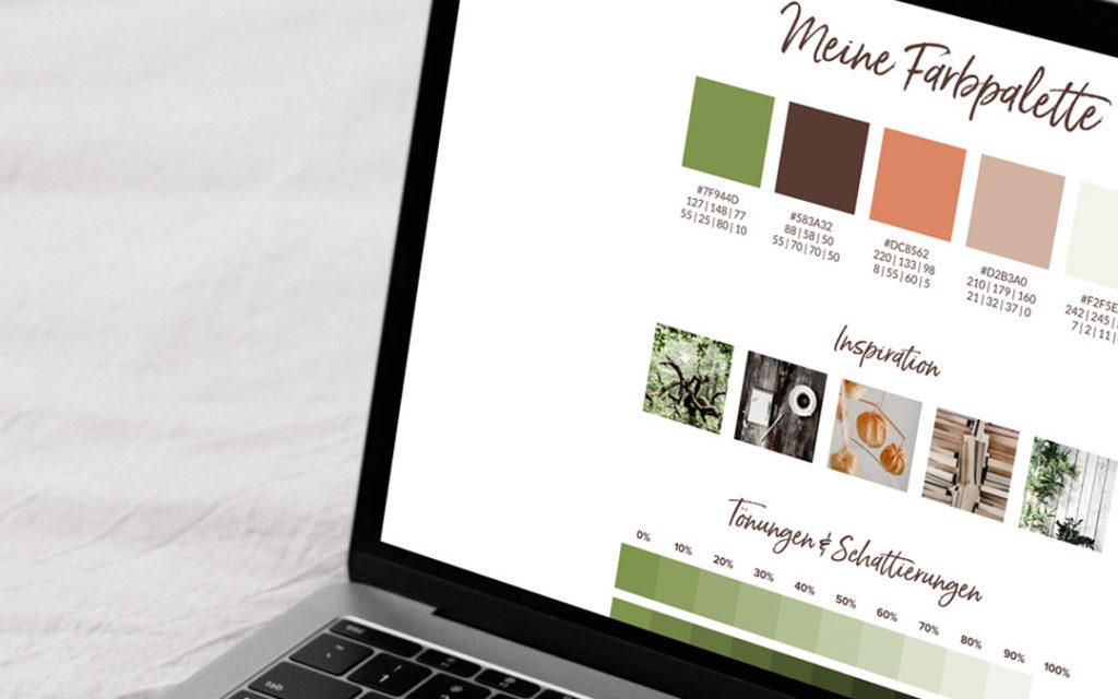 Erstell dir ein kleines Bandboard als Übersicht für deine Brandingfarben.