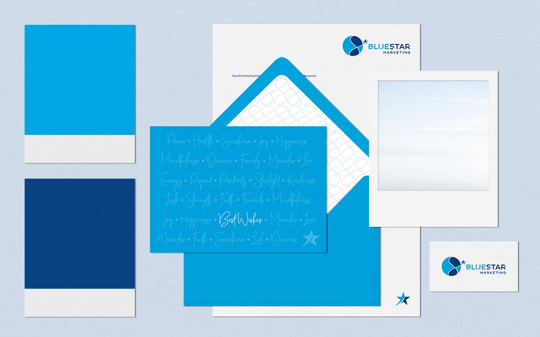 Corporate Design für Blue Star Marketing