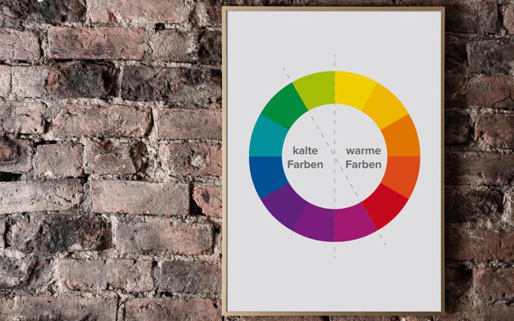 Wenn du deine Brandingfarben zusammenstellst, kannst du kalte und warme Farbtöne kombinieren.