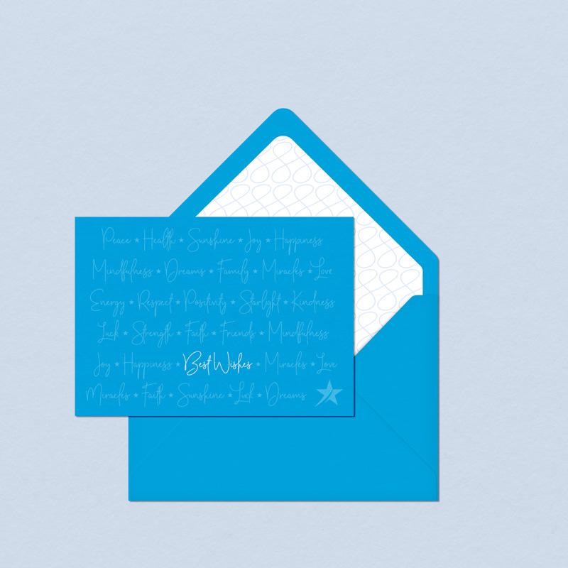 Grußkarten-Design für Blue Star Marketing