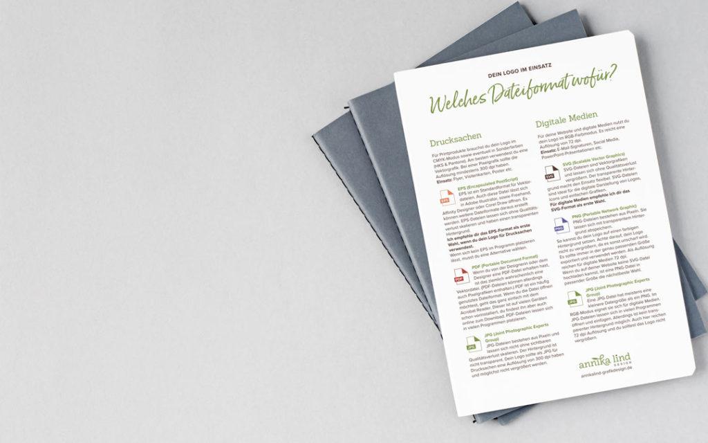 Welches Logo-Dateiformat verwendest du wofür? In dieser Kurzübersicht zum Download findest du alle wichtigen Infos einfach & übersichtlich zusammengefasst.