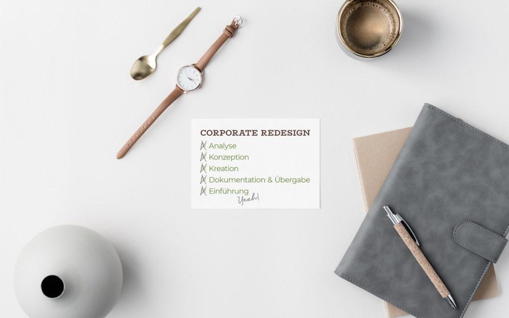 In 5 Schritten zum Corporate Redesign