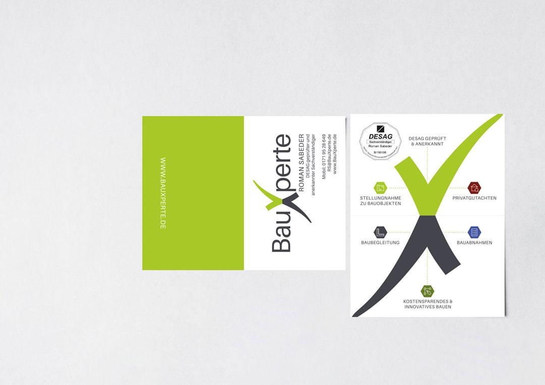 Visitenkarte BauXperte Roman Sabeder