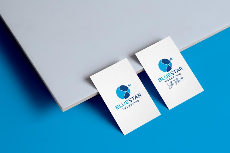 Logodesign & Visitenkarten für Blue Star Marketing